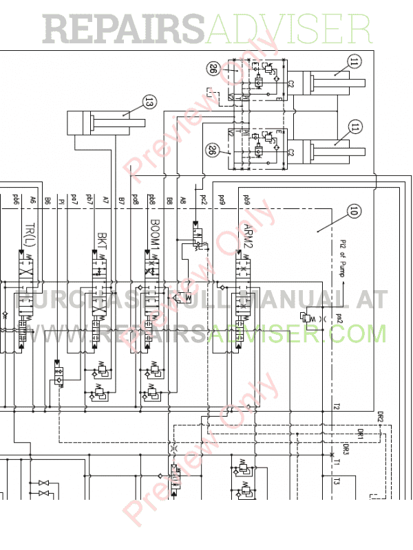 Doosan S300LC-V Crawler Excavator Set Schematics of PDF