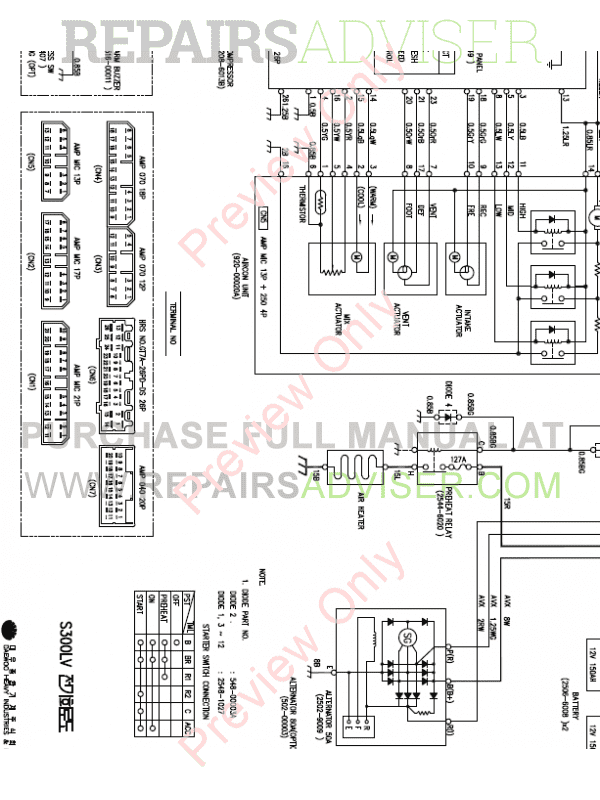 Doosan S330LC-V Excavator Schemes Set of PDF Download