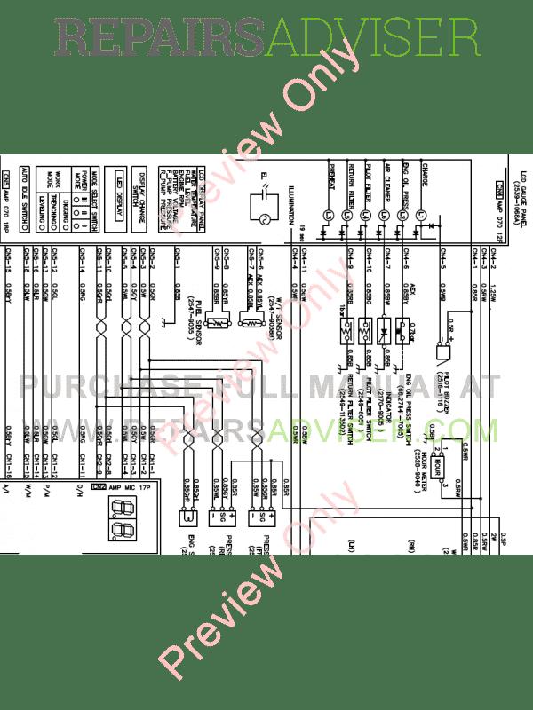 Doosan S450LC-3/S450-V Excavator Schemes Set of PDF Download