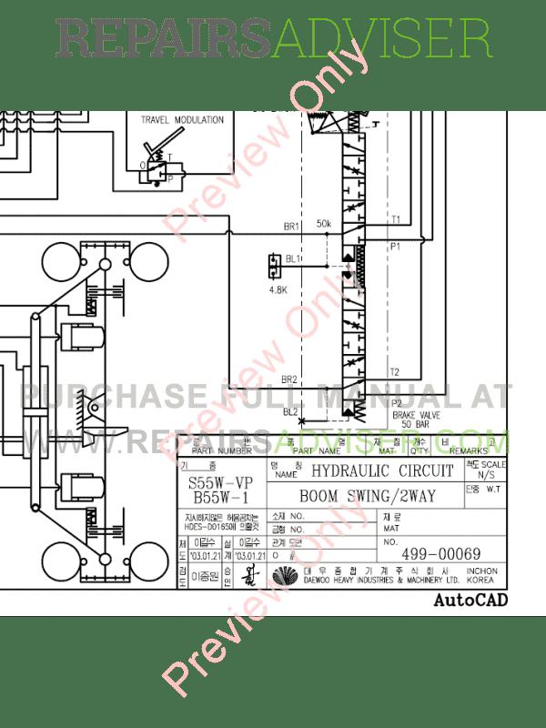 Doosan S55W-V Wheel Loader Schemes Set of PDF Download