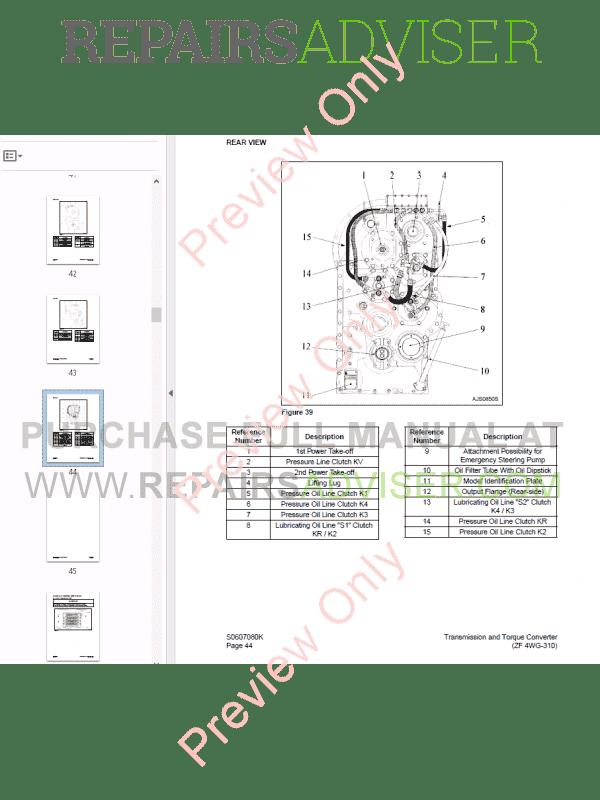 Doosan Transmission and Torque Converter (ZF 4WG-310) PDF