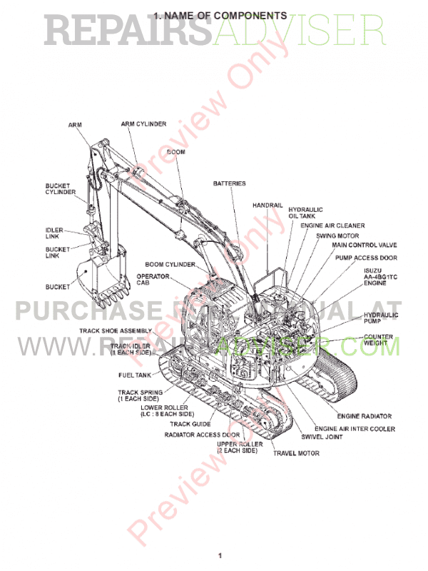 Fiat Kobelco Crawler Excavator E200SR Evolution Manual PDF