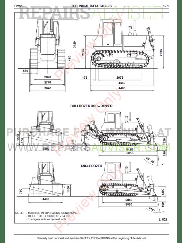 Fiat Kobelco D255 Crawler Dozer Workshop Manual PDF