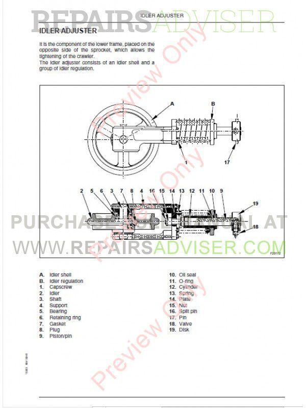 Fiat Kobelco E16, E18 Evolution Excavators Workshop Manual