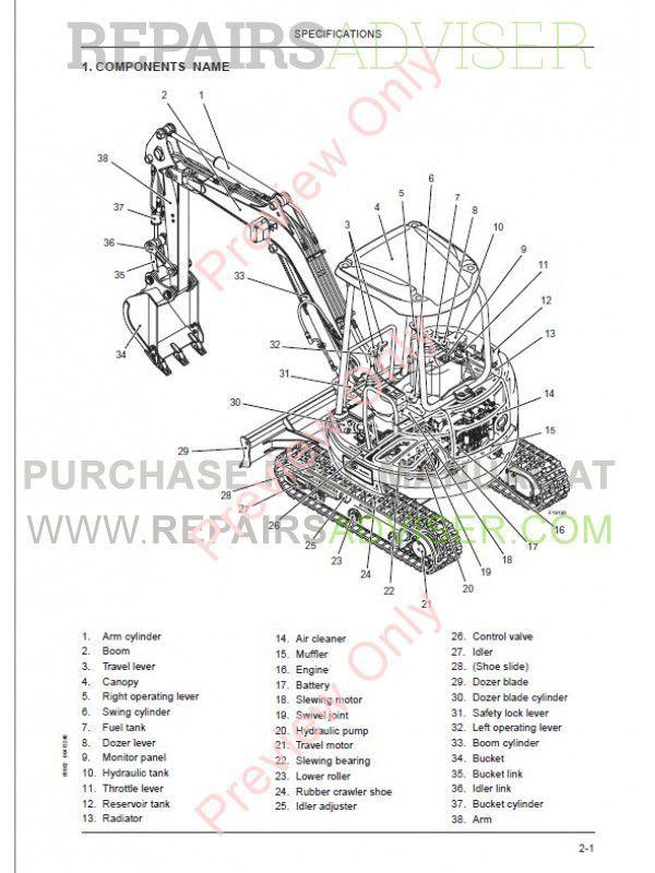 Fiat Kobelco E20SR, E22SR, E27SR Evolution Excavators
