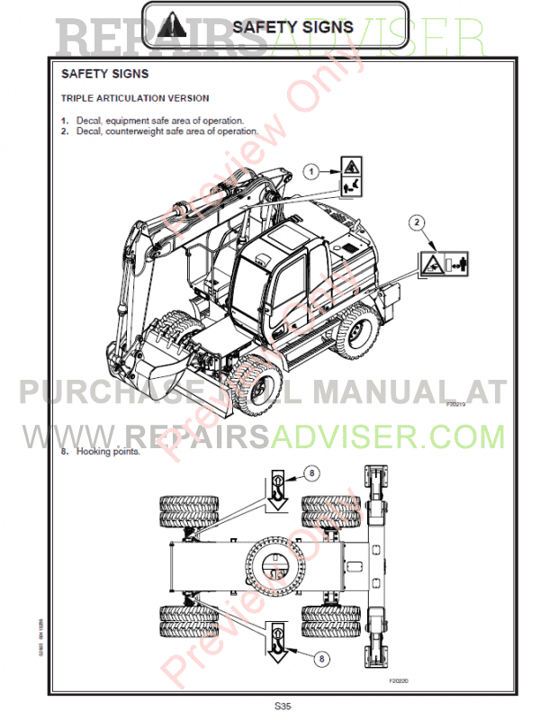 Fiat Kobelco Excavator E145W, E175W Evolution Manual PDF