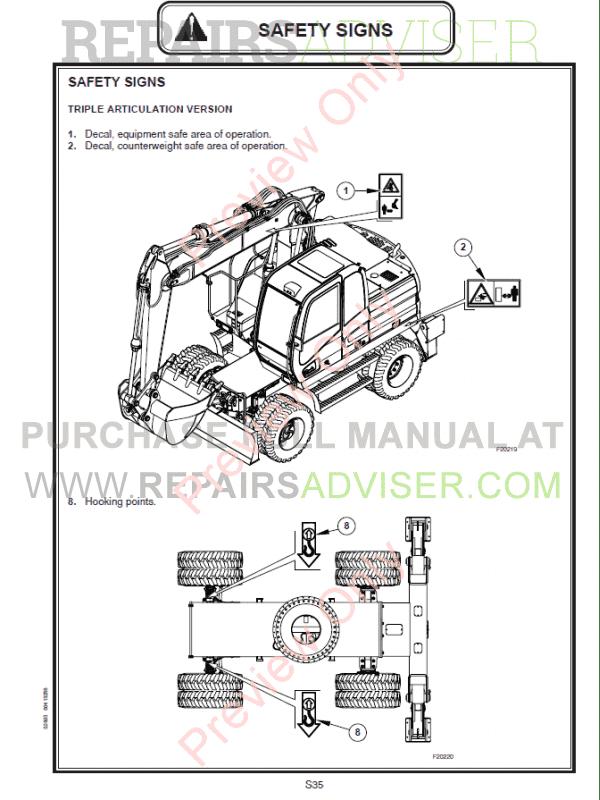 Fiat Kobelco Excavator E145W, E175W Evolution Manual PDF
