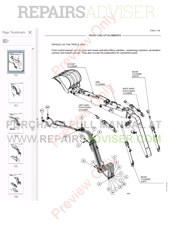 Fiat Kobelco Excavator EX125W Workshop Manual PDF