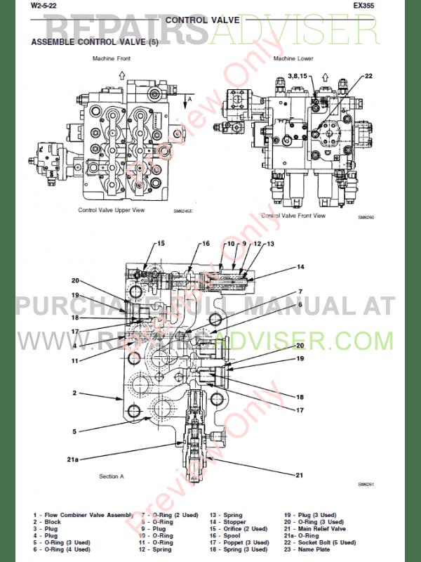 Fiat Kobelco Excavator EX355 Tier2 Manual PDF