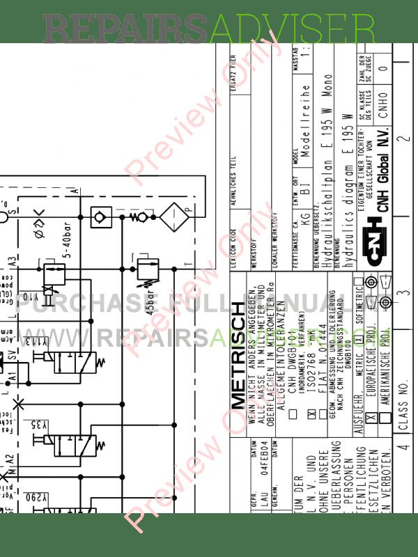 Fiat Kobelco Hydraulic Excavator E195W Service Manual PDF