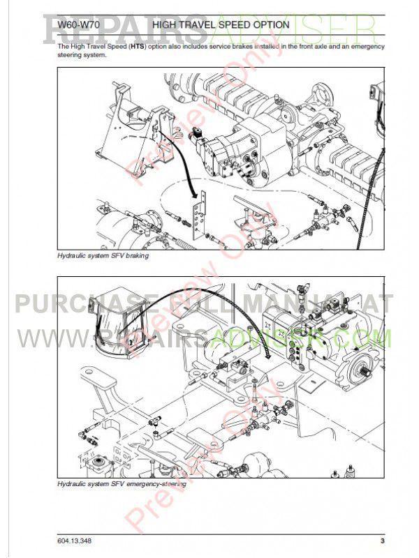 Fiat Kobelco W60, W70 High Travel Wheel Loader Technical