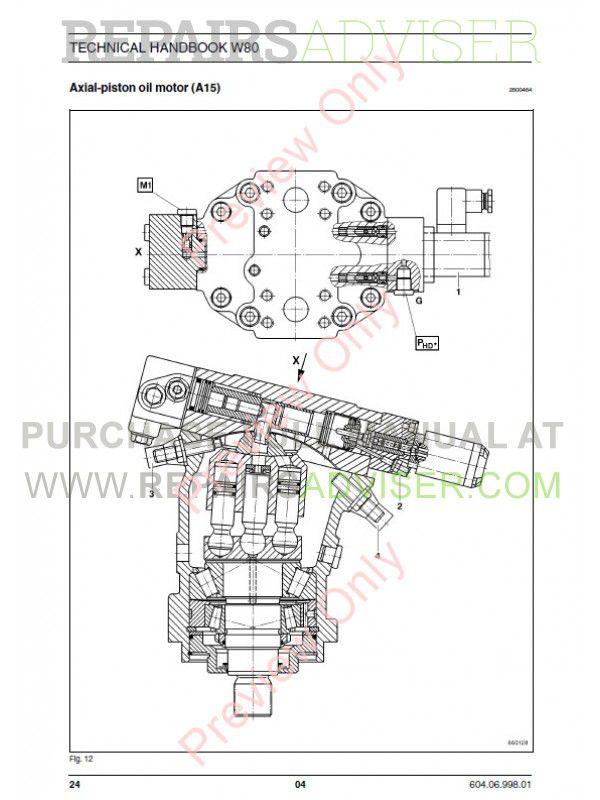 Fiat Kobelco W80 Wheel Loader Technical Handbook PDF Download