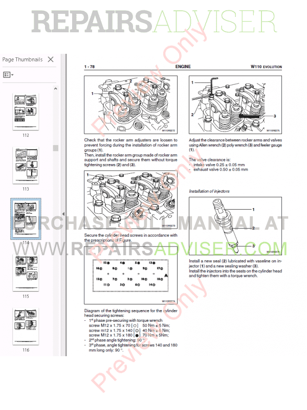 Fiat Kobelco Wheel Loader W110 Evolution Manual PDF