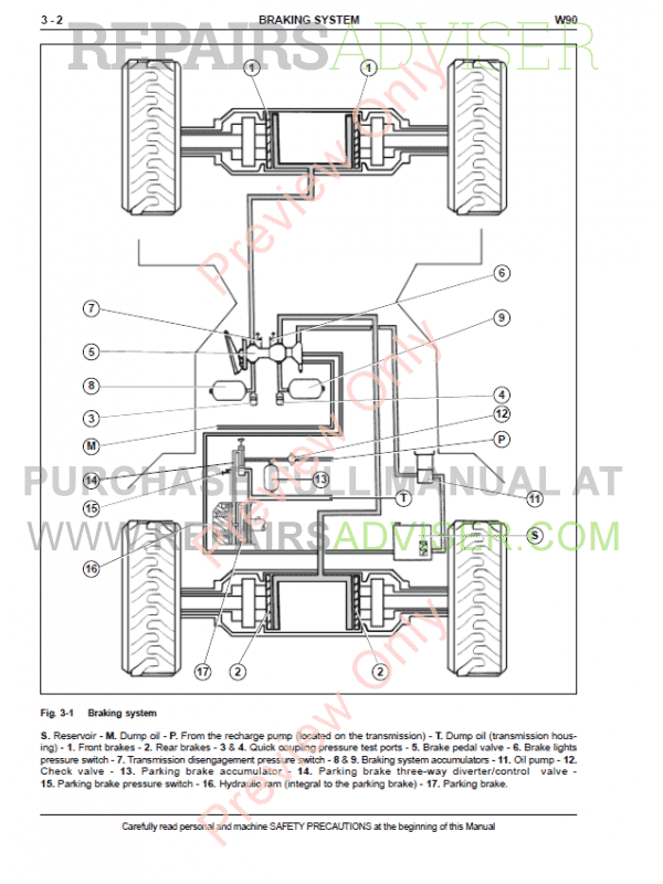 Fiat Kobelco Wheel Loader W90 Service Manual PDF