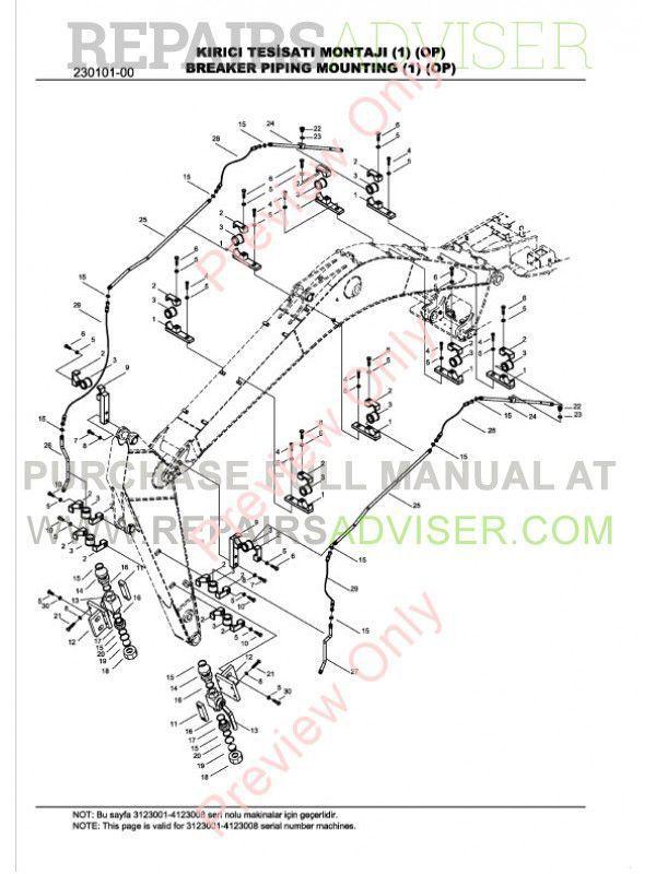 Hidromek HMK 102B/S, 200W/LC-2 Loaders Set of Parts