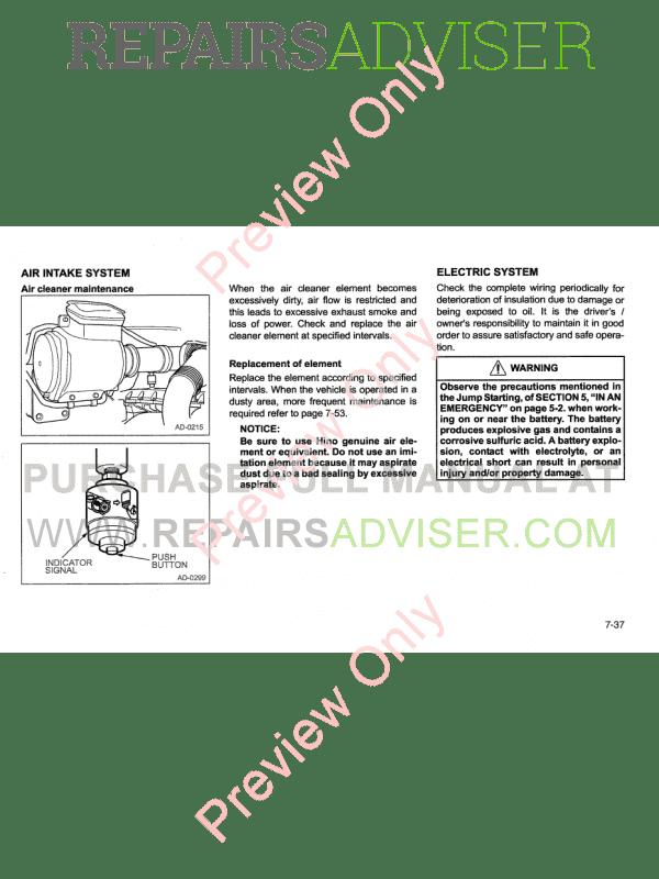 Hino Diesel Engines 6, 4 Cylinders 2009 Service Manual PDF