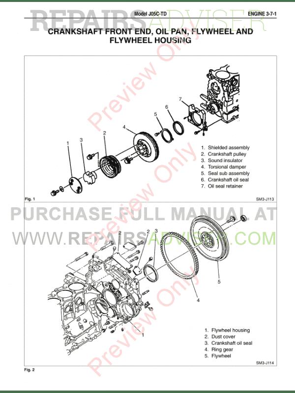 Hino Diesel Truck FA FB Series 2004 PDF Workshop Manual