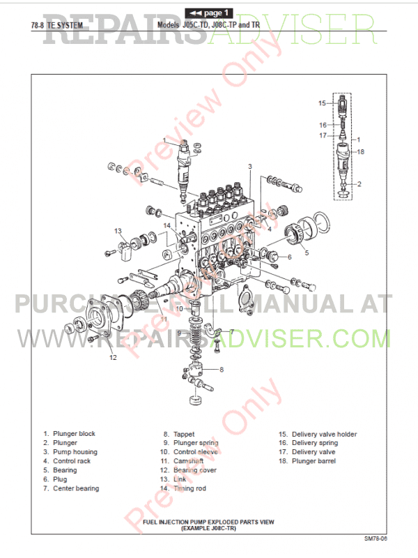 Hino Diesel Trucks 2001 FA FB Workshop Manual PDF Download