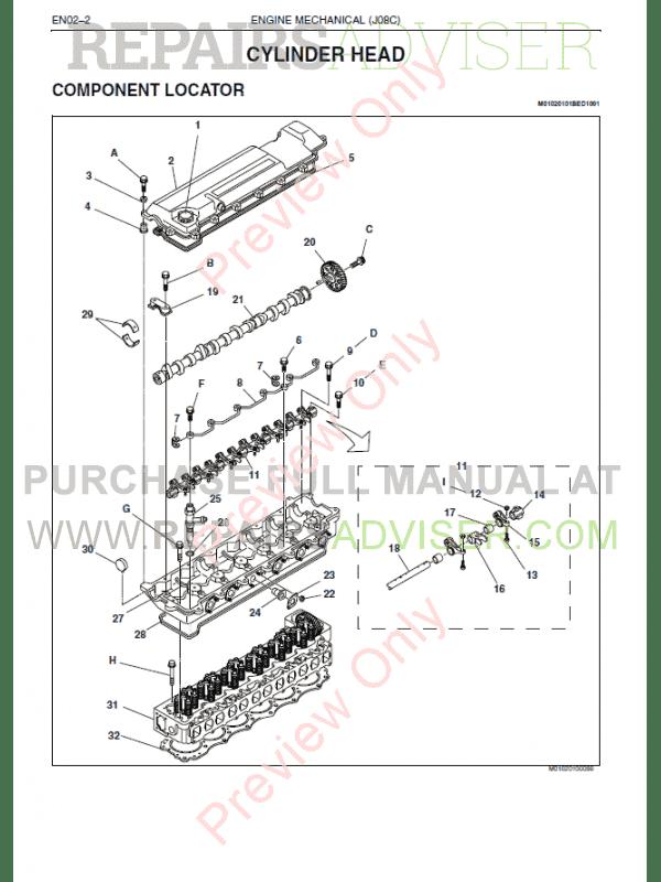 Hino J08C-TI Engine Workshop Manual PDF Download