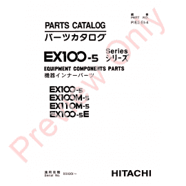 Hitachi EX1200-5, EX1200-5C, EX1900-5 Excavators Set of