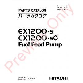 Hitachi EX1200-5, EX1200-5C, EX1900-5 Excavators Set of