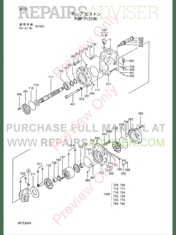 Hitachi EX1200-5 Equipment Components Parts Catalog PDF