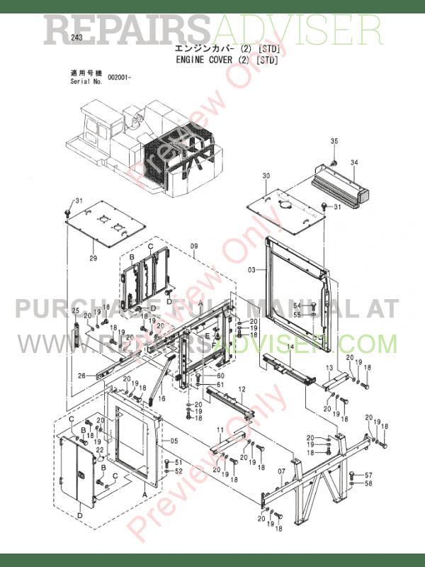 Hitachi EX1200-5C Excavator Parts Catalog PDF Download