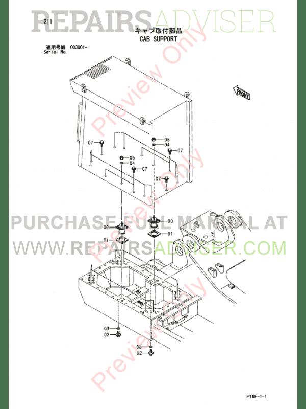 Hitachi EX1200-5D Excavator Parts Catalog PDF Download