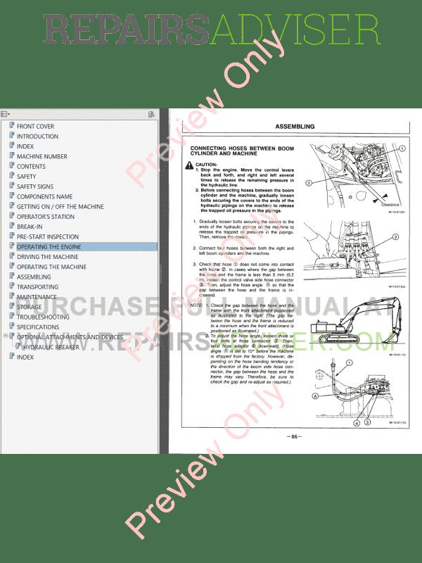 Hitachi EX550-5/LC-5, EX600H-5/LCH-5 Excavator Set of PDF