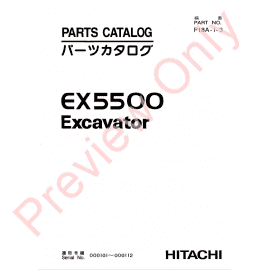 Hitachi EX2500-5 Excavator Parts Catalog PDF Download