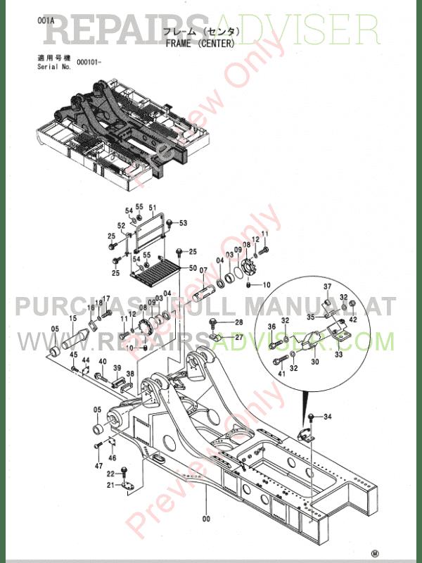 Hitachi EX5500 Excavator Parts Catalog PDF Download
