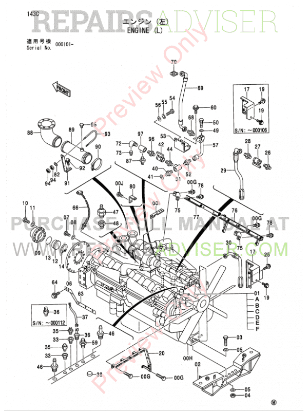 Hitachi EX5500 Excavator Parts Catalog PDF Download