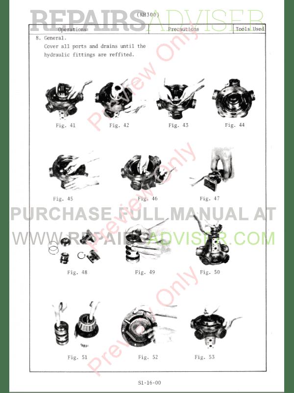 Hitachi KH300, KH300-3 Hydraulic Crawler Cranes PDF