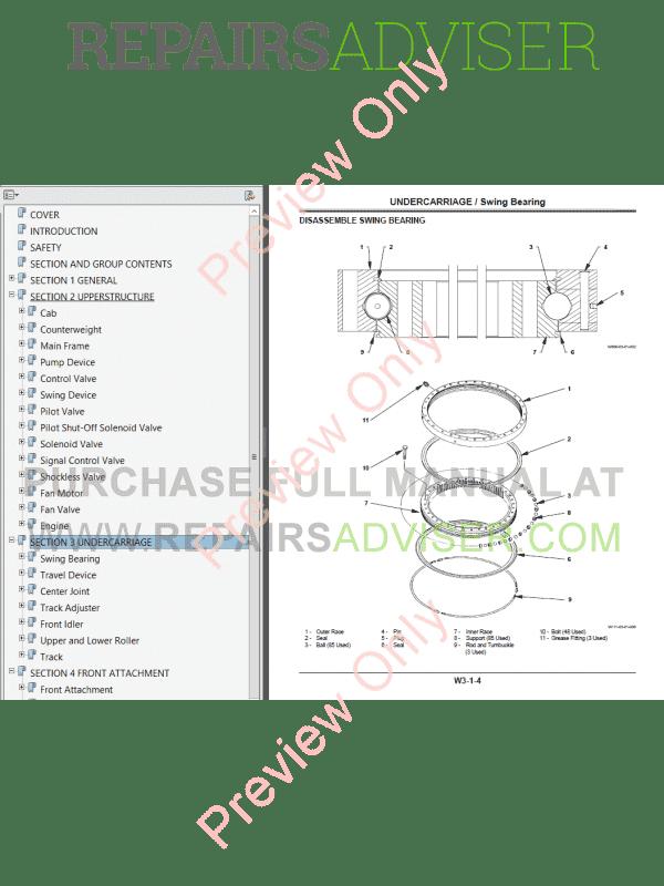 Hitachi Zaxis 850-3, 850LC-3, 870H-3, 870LCH-3 Hydraulic