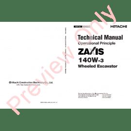 Hitachi Zaxis ZX170W-3 & ZX190W-3 Wheeled Excavator