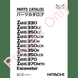 Hitachi Zaxis 330, 330LC, 350H, 350LC, 350LCH, 350LCN
