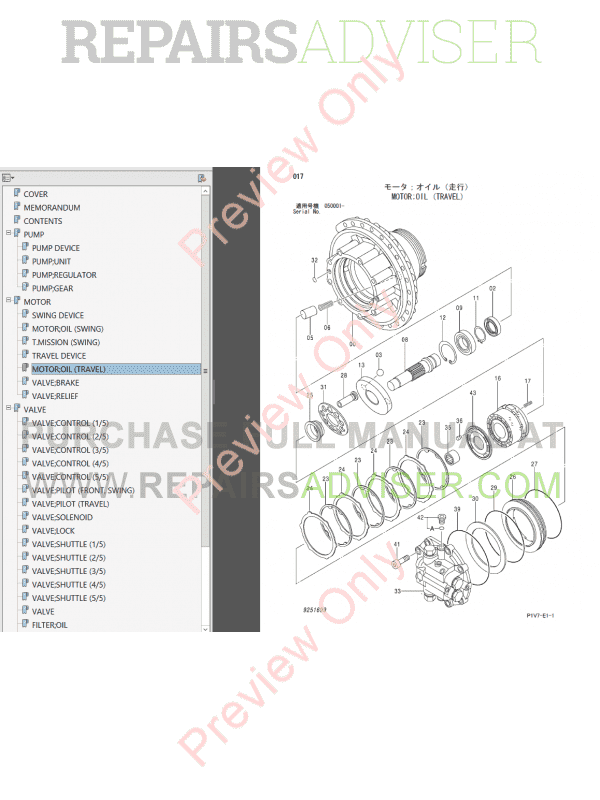 Hitachi Zaxis 330-3 class Hydraulic Excavators Set of PDF