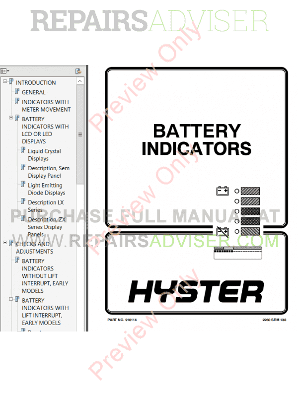 Hyster Class 1 For A203 Electric Motor Rider Trucks PDF