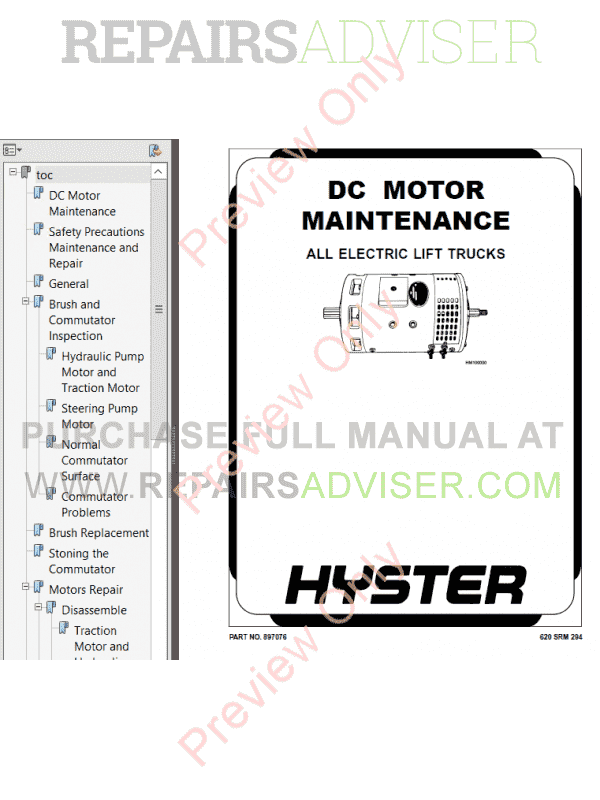 Hyster Class 1 For A219 Electric Motor Rider Trucks PDF