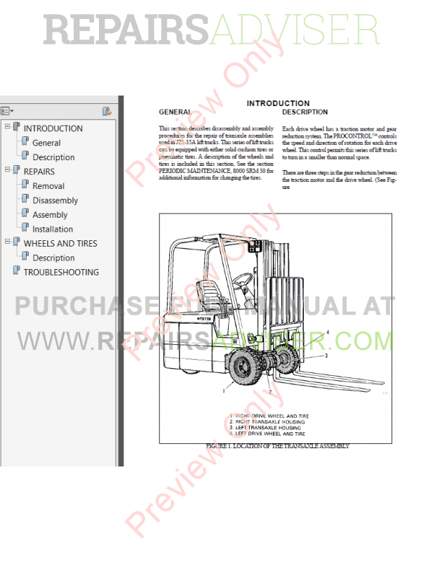 Hyster Class 1 For B160 Electric Motor Rider Trucks PDF