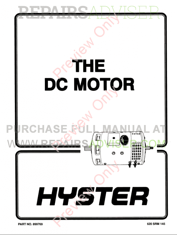 Hyster Class 1 For C098 (Pre-SEM) Electric Motor Rider