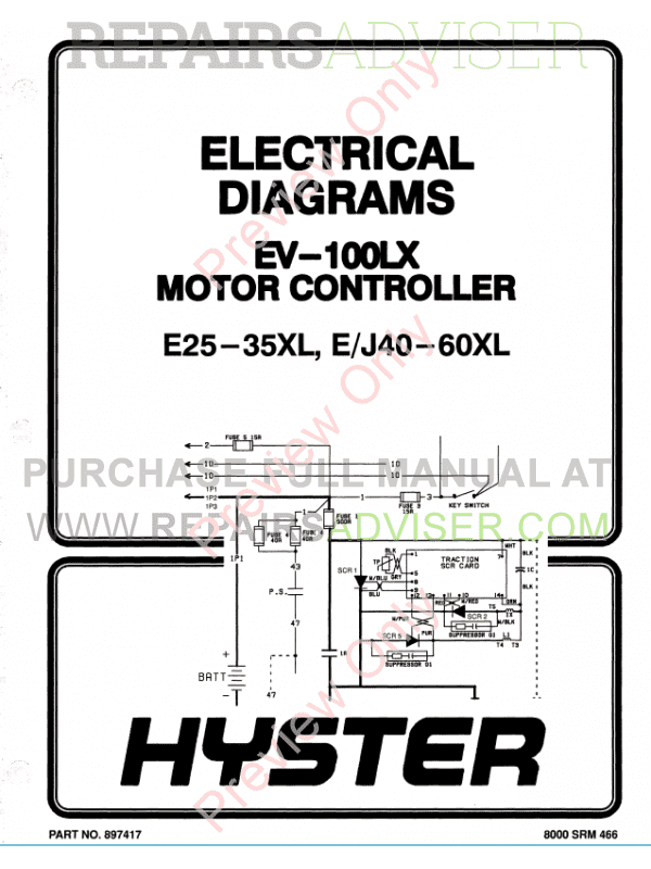 Hyster Class 1 For C108 Electric Motor Rider Trucks PDF