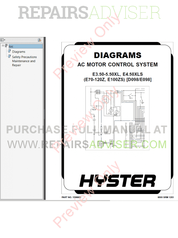 Hyster Class 1 For E098 Europe Electric Motor Rider Trucks