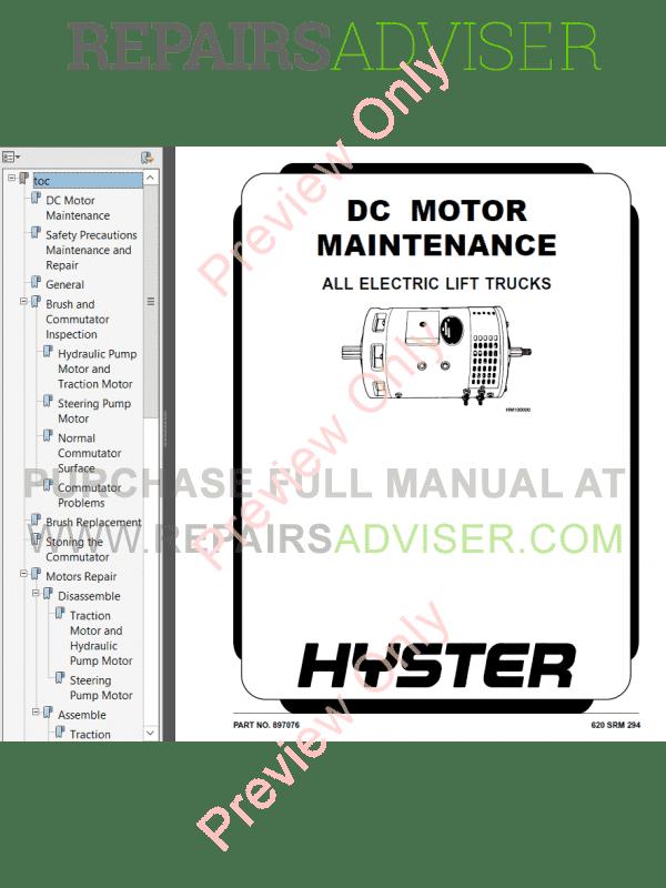 Hyster Class 1 For E114 Electric Motor Rider Trucks PDF