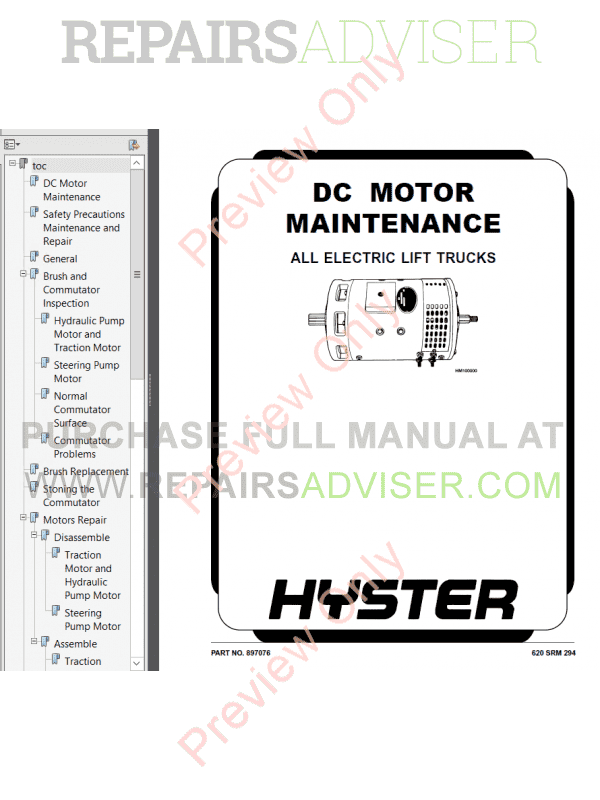 Hyster Class 1 For D114 Europe Electric Motor Rider Trucks