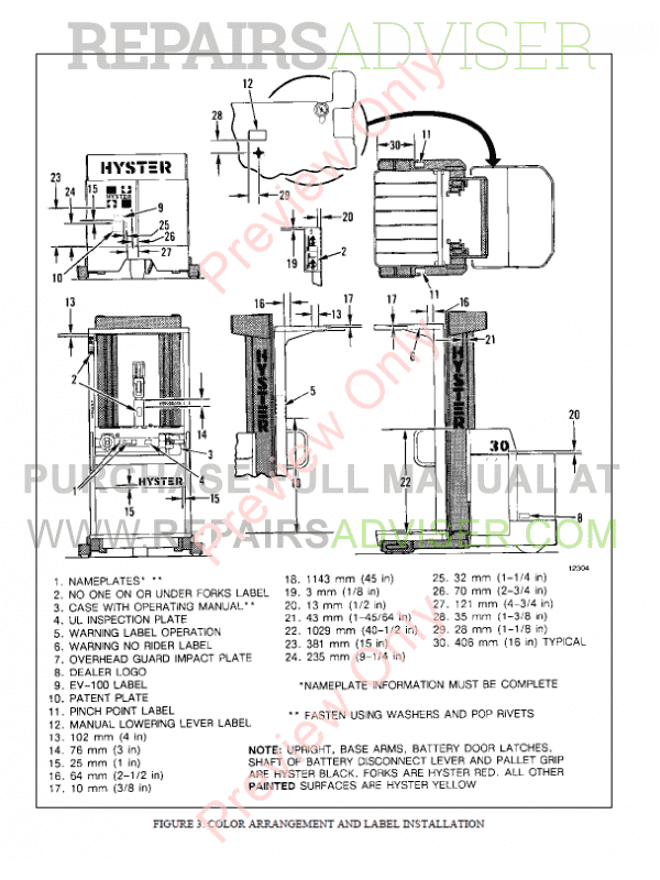 Hyster Class 2 For B174 Electric Motor Narrow Aisle Trucks