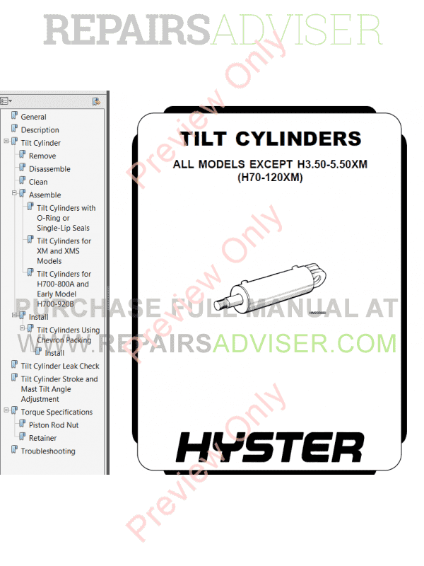 Hyster Class 2 For D138 Electric Motor Narrow Aisle Trucks