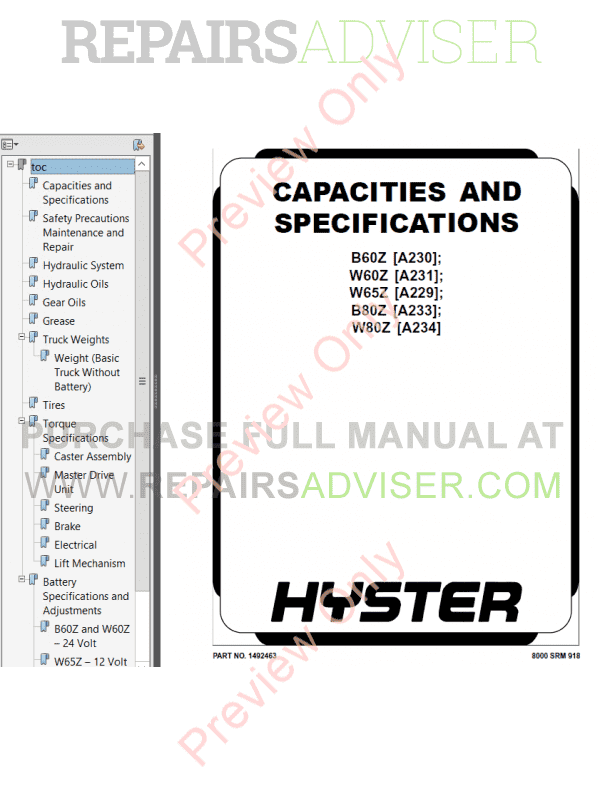 Hyster Class 3 For A233 Electric Motor Hand Trucks PDF