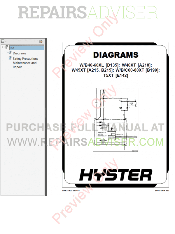 Hyster Class 3 For A499 Electric Motor Hand Trucks PDF