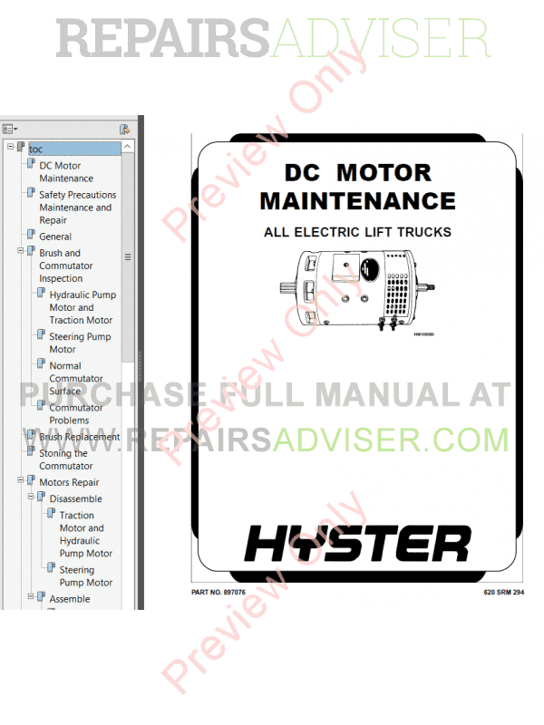 Hyster Class 3 For B455 Electric Motor Hand Trucks PDF